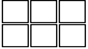 6 empty box drawing template