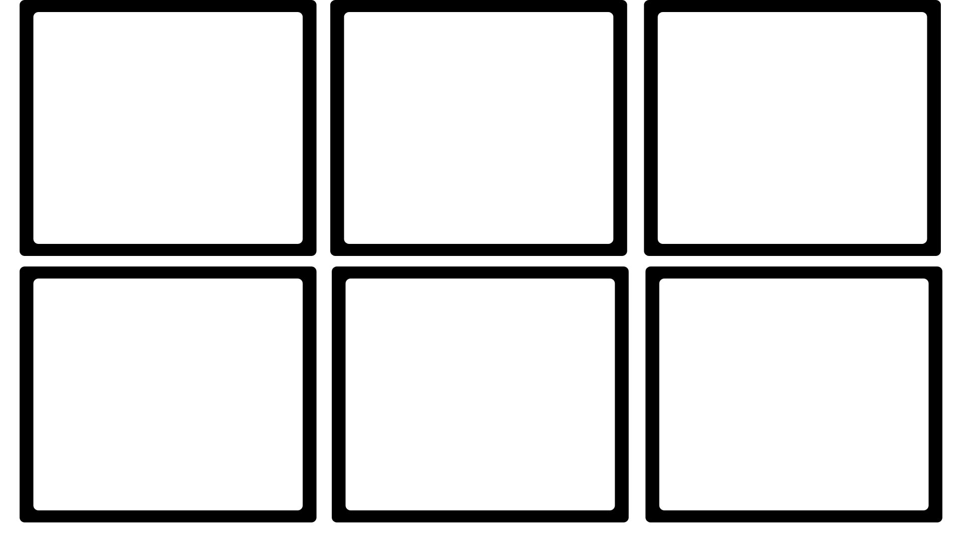 Here is a blank, six panel template for your practicing pleasure. Have ...