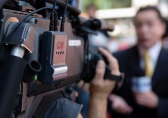 video camera crew
