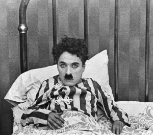 charlie chaplin in old silent movie