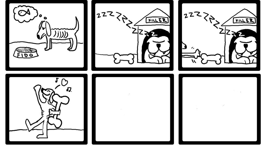 dog story in template