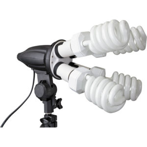 compact florescent light fixture for video