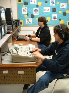 high school video production control room