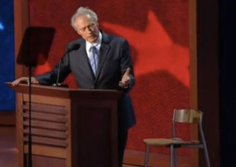 Clint Eastwood Convention Speech Suffers From Live, Unplanned Video Production