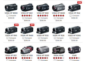 Canon Vixia Line of Video Camcorders