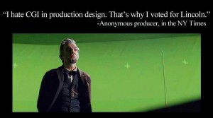 green screen effect used in steven speilberg's lincoln