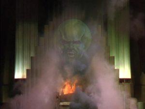 wizard f oz giant head inside wizard's chamber