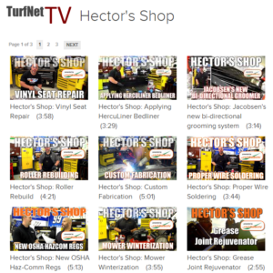 turf net tv video page