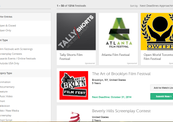 film freeway website screen capture