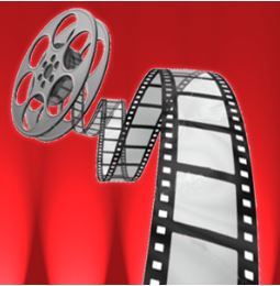 royalty free image of film reel