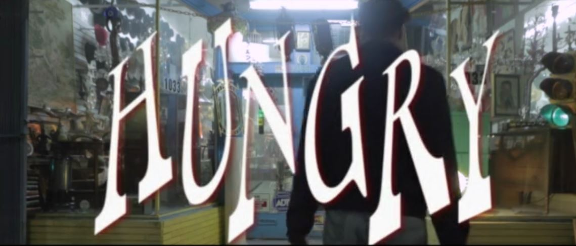 screen capture of film title, Hungry