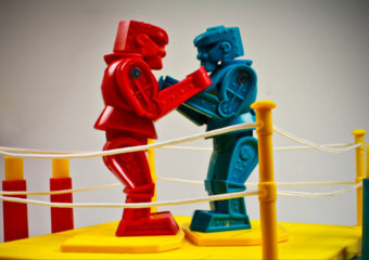 rock em sock em toy robots fight