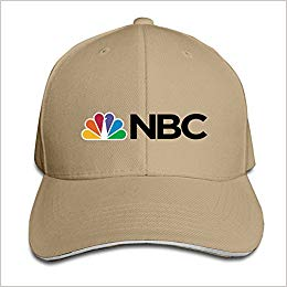 baseball cap with nbc logo brown